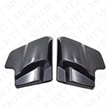 HTTMT HL1584-082- Unpainted Black Side Covers Compatible with 2009-2016 Harley Touring Road King Glide