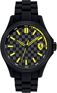 Ferrari Scuderia Pit Crew For Men Black Dial Silicone Band Watch - 830156, Analog Display, Japanese Quartz Movement