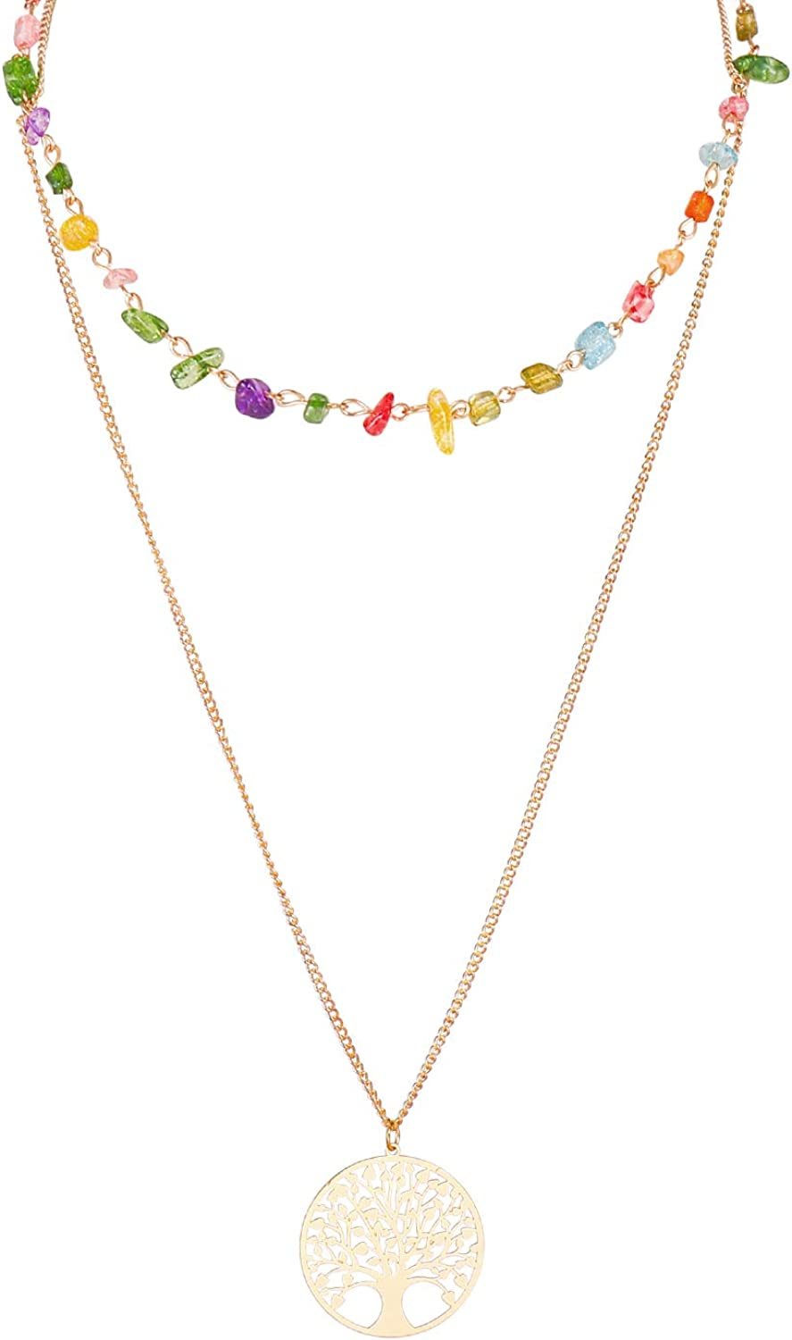 Layered Overseas parallel import regular item Necklaces Recommendation for Women Double with Necklace Creative Layer