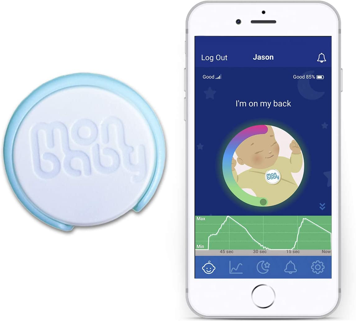 MonBaby Baby Breathing Monitor: HSA/FSA Approved. Track Your Baby's Breathing and Rollover Movement During Sleep. Low Energy Bluetooth Connectivity. Get Alerted If Baby Needs Your Attention.