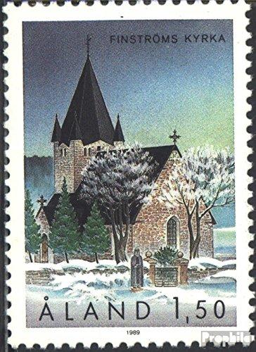 Prophila Collection Finnland - Aland 37 (kompl.Ausg.) 1989 Kirche von Finström (Briefmarken für Sammler) Christentum