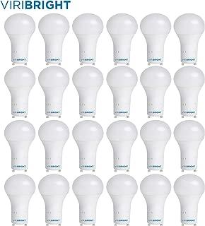 60 Watt Light Bulbs, Viribright A19 LED Light Bulbs, 60 Watt Replacements, 8 Watt LED Light Bulbs, 6500K Daylight, GU24 Base Light Bulbs - 24 Pack