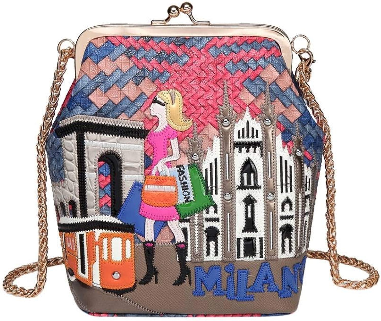 Genda 2Archer Mini Crossbody Bag PU-Leather Fashion Evening Hasp Clutch