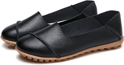 fa91baa87b Luyomy Two-Way-wear Casual Slip on Loafers Dressy Flats Shoes Leather  Driver Sneakers