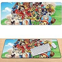アニメワンピース マウスパッドは素晴らしいゲーミングマウスパッドです大型マウスパッドドレスぬいぐるみアヒルの舌漫画表面耐摩耗性と耐久性のある大規模なオフィスマウスパッドの個性の強化-900*400*3mm-C_900*400*3MM