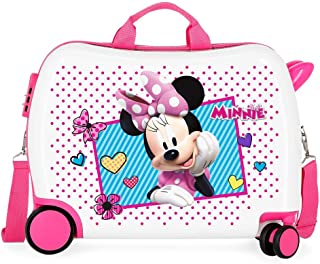 Disney Enjoy Minnie Icon Valise Enfant Rose 50x38x20 cms Rigide ABS Serrure à combinaison 34L 2,3Kgs 4 roues Bagage à main