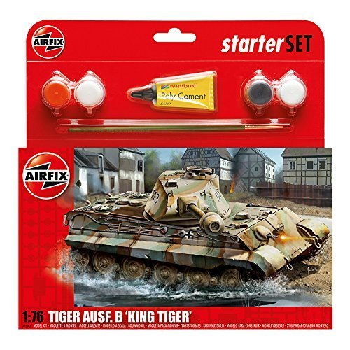Airfix A55303 King Tiger 1:76 Scale Model Medium Starter Set by Airfix World War II Military Vehicles & Dioramas
