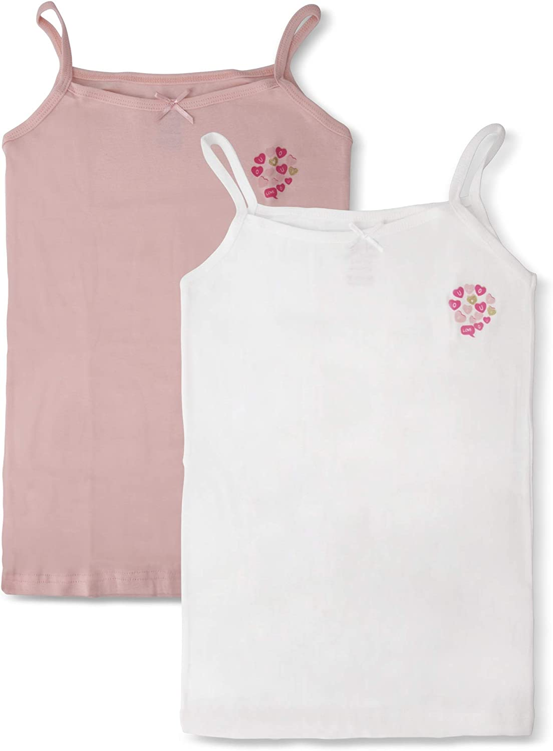 3 pk Tagless Cotton Camisole. Brix Toddler and Girls Cami Undershirts