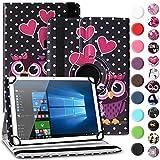 Nauci Tablet Hülle für Xido Z120 Z110 X111 X110 Tasche Schutzhülle Case Cover aus Kunstleder Standfunktion 360° Drehbar, Farben:Motiv 3