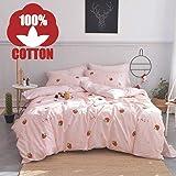 AOJIM 100% Cotton Bedding Bedroom 3 pcs Sets with 2 Envelope Pillowcase