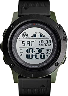 ساعة 1476 للرجال رقمية مضادة للماء كرونوغراف تنبيه التاريخ عرض الأسبوع 5ATM ساعة معصم للرجال