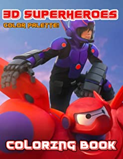 Color Palette! - 3D Superheroes Coloring Book: Discover The Hero World With Our 3D Animated Superheroes