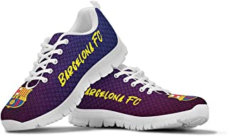 Barcelona FC Themed Casual Athletic Running Shoe Mens Womens Sizes Sneakers Barca Spain Soccer Apparel and Gifts for Men and Women