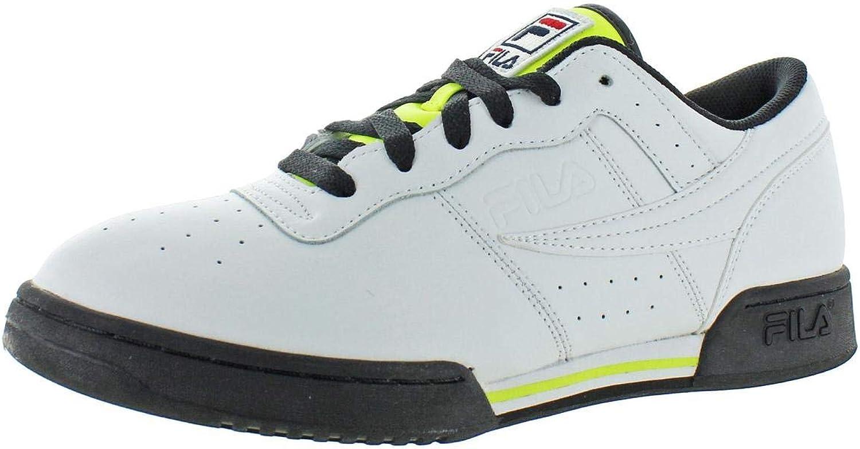 Fila Mens Original Fitness Logo Leather Low-Top Casual shoes