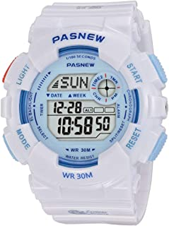 PASNEW Kids Watch Multi Function Digital-Analog Sport Watches for 7-Year Old or Above Children