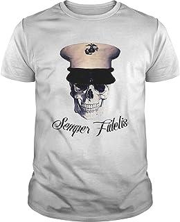 Skull Marnie Semper Fidelis Shirt - T Shirt For Men and Women.