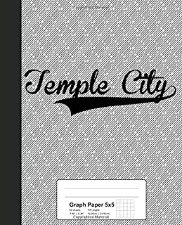 Graph Paper 5x5: TEMPLE CITY Notebook (Weezag Graph Paper 5x5 Notebook)
