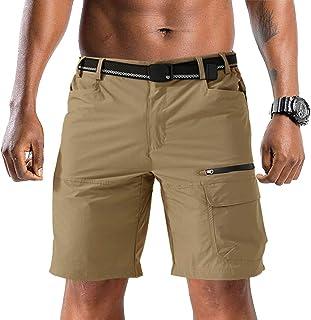 TACVASEN Men's Quick Dry Shorts Comfortable Cargo Shorts Outdoor Climbing Shorts Multi-Pockets