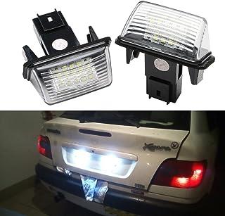 Peugeot Led License Plate Light Lamp Bulbs For Peugeot 206 207 306 307 308 406 407