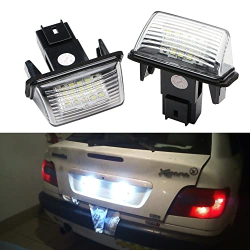 Peugeot Led License Plate Light Lamp Bulbs For Peugeot 206 207 306 307 308 406 407