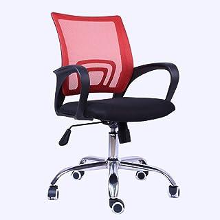 Wyujie Silla De Oficina con Respaldo Giratorio Y Sillas De Escritorio con Respaldo para El Dormitorio Silla con Respaldo Lumbar Sillas De Escritorio para La Oficina En Casa,Rojo