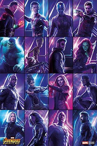 Avengers Infinity War Poster Heroes, Mehrfarbig, 61 x 91.5cm