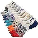 Anliceform Socquettes taille basse pour homme, invisible, antidérapantes en coton peigné chaussettes premium (5 Paires)