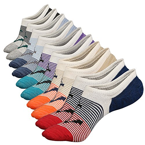 Anliceform Sneaker Socken, Herren tief geschnittene Baumwollsocken unsichtbare Socken Antirutsch-Funktion, aus hochwertiger gekämmter Baumwolle, Farbe 4 5 Paar, 38/43 EU