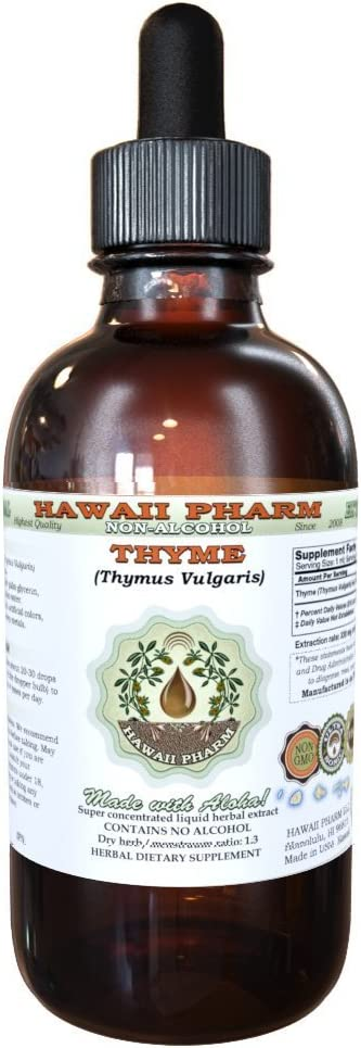 Spasm price Outlet ☆ Free Shipping Thyme Alcohol-Free Liquid Extract Vulgari Organic Thymus