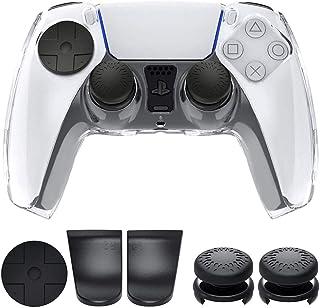 Funda protectora para controlador PS5 Funda de cristal para PlayStation 5 Carcasa protectora de controlador DualSenseco...