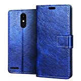 RIFFUE LG K9 Case, Elegant Flip Folio Leather Wallet Phone