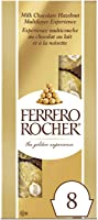 Ferrero Rocher Fine Hazelnut Chocolate Gift Bag, 8 Individually Wrapped Chocolates, 6 Count, .88 Kilogram