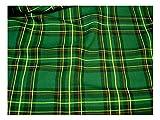 Fabrics-City% GRÜN ORIGINAL SCHOTTENKARO STOFF TARTAN
