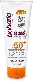 Crema Cara Y Escote SPF 50+ Antimanchas y Antiarrugas Rosa Mosqueta