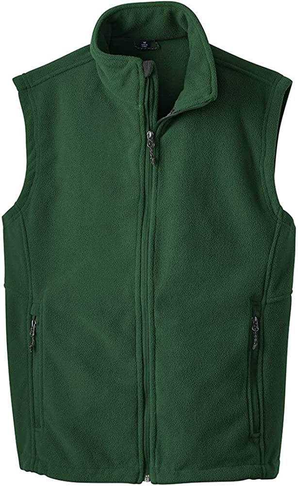 Joe's USA Supersoft Fleece Vest-XS-ForestGreen