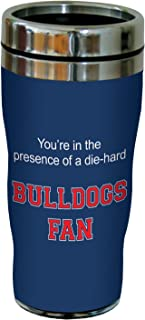 Tree-Free Greetings sg24439 Bulldogs College Football Fan Sip 'N Go Stainless Steel Lined Travel Tumbler, 16-Ounce
