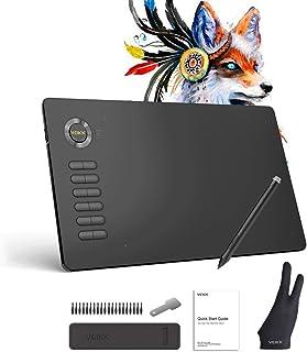 VEIKK A15(グレー)ペンタブレット 10*6インチ作業 ペンタブ テレワー、テレ授業、8192レベル& 充電不要ペン レポートレート:250pps 12個エクスプレスキー が搭載 多彩でファッションなロゴデザイン ペンタブレット