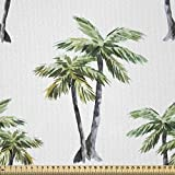 ABAKUHAUS Palme Stoff als Meterware, Aquarell Bäume Kunst,