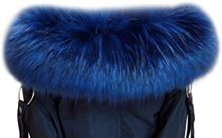 VEVESMUNDO Removable Fake Fur Trim Neck Collar Wrap Scarf Warmer For Parka Coats