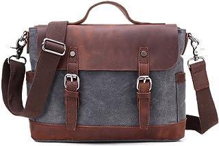 "Men's Accessories Office 9.7"" iPad Tablet Handbag Casual Business Briefcase Shoulder Messenger Crossbody Outdoor Recreation (Color : Gray)"