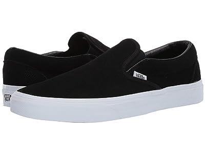 Vans Classic Slip-Ontm ((Perf Suede) Black/True White) Skate Shoes
