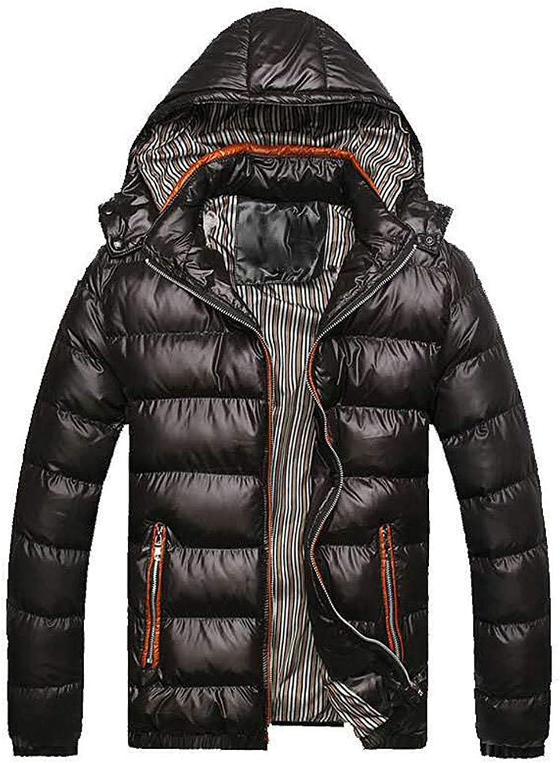 5f52de3c5 Men Jackets,DartphewWinter Jacket Men's Hat Cotton Thickening Padded Coat