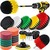 Holikme 30piece Drill Brush Attachments Set, Scrub Pads Sponge, Power Scrubber Brush with Rotate...
