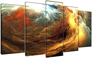 Multicolour Art Colorful Graffiti Canvas Print Picture for Living Room Decoration Stretched XLarge 5 Panels Painting Wall Art Print on Colour Canvas- High Definition Modern Home