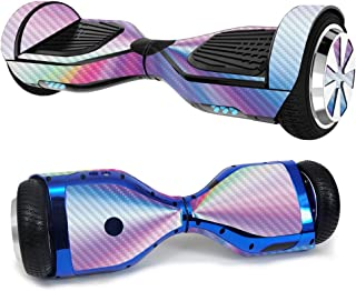 MightySkins Carbon Fiber Skin for Ultra Hoverboard - Rainbow Zoom | Protective, Durable Textured Carbon Fiber Finish | Eas...
