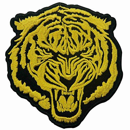 Parche termoadhesivo para la ropa, diseño de El tigre de oro rugiente