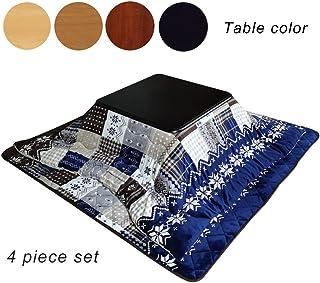 Mesa Caliente Debajo de la Manta Mesa calefactora en Invierno Ventana con Ventana Cuadrada Mesa Baja Mesa de Centro (Color : Wood Table, Size : 80 * 80 * 41cm)