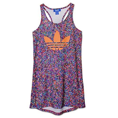 adidas Originals ZX Flux Tank Dress Trefoil Sommerkleid Longshirt Kleid Shirt, Größe:32, Farbe:Mehrfarbig