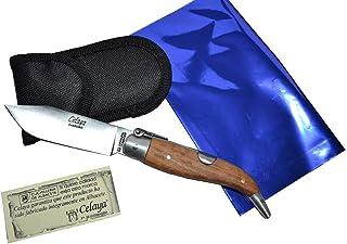 Couteau Celaya Classic Albacete Aluminium Bois d'Olivier 7 cm