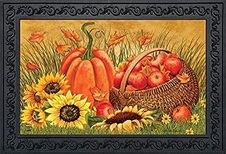Briarwood Lane Pumpkin and Apples Fall Doormat Sunflowers Autumn Indoor Outdoor 18